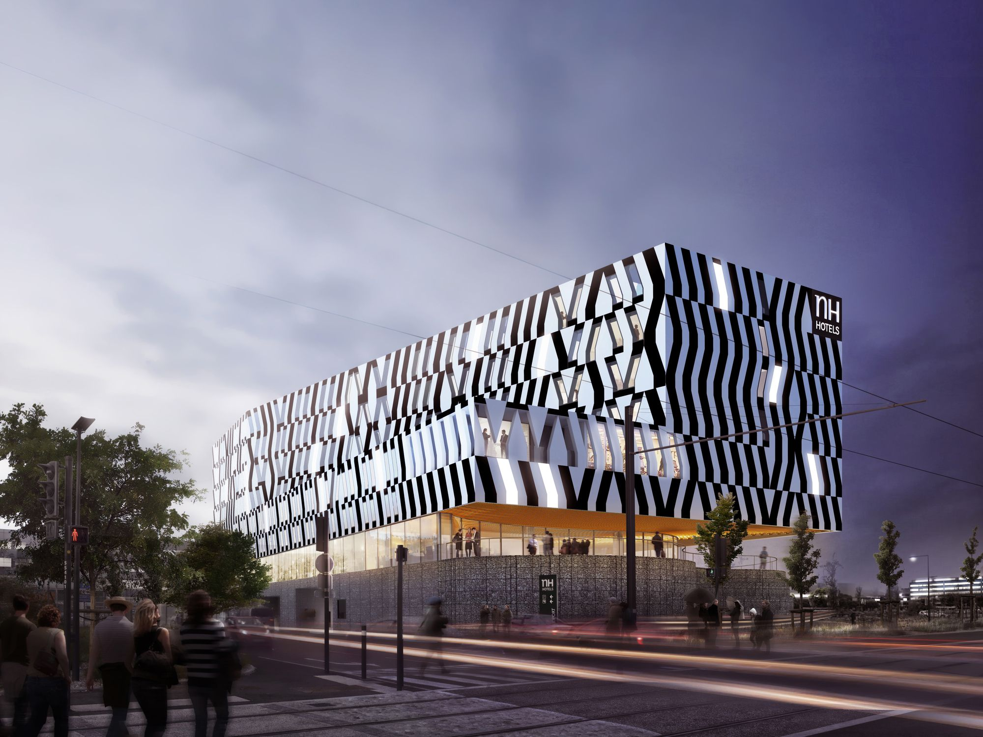 NH hotel at the Toulouse Blagnac Airport in Bordeaux by atelier d'architecture King Kong