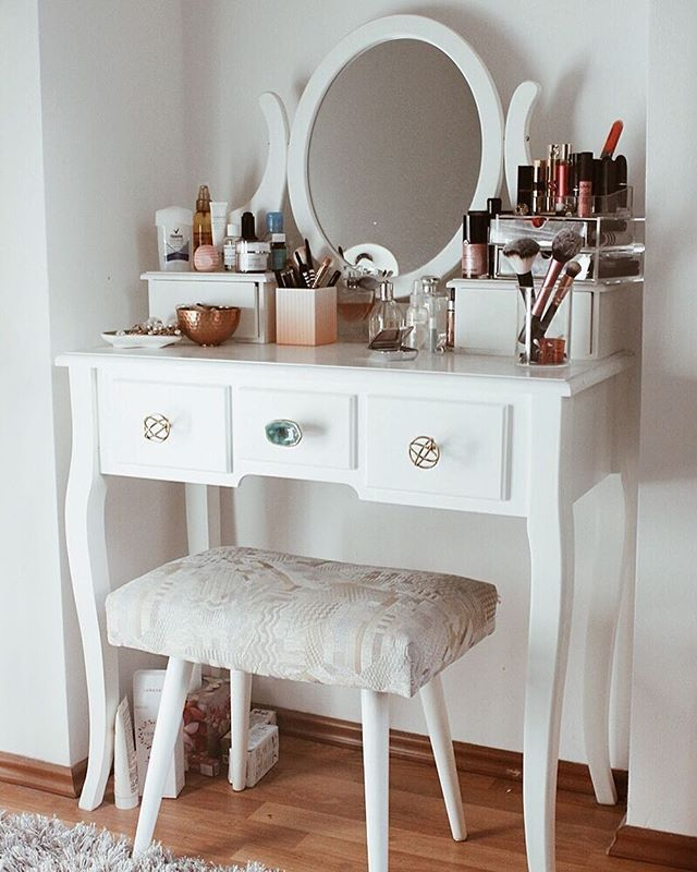 dressing table schminktisch wei ikea zara home h m home anthropologie mirror make up. Black Bedroom Furniture Sets. Home Design Ideas