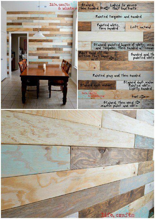 15 Creatively Genius Diy Wood Walls Home Diy Plank Walls