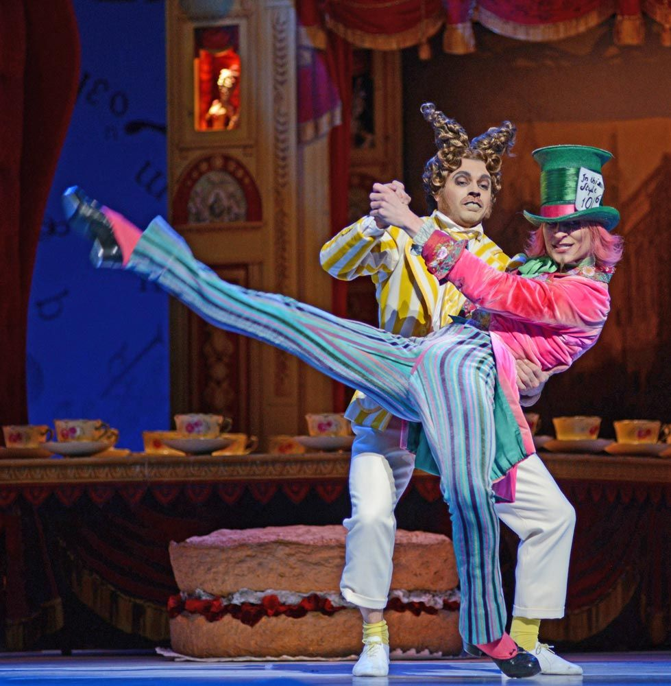 Donald Thom Mad Hatter And Paul Kay In Alice S Adventures In