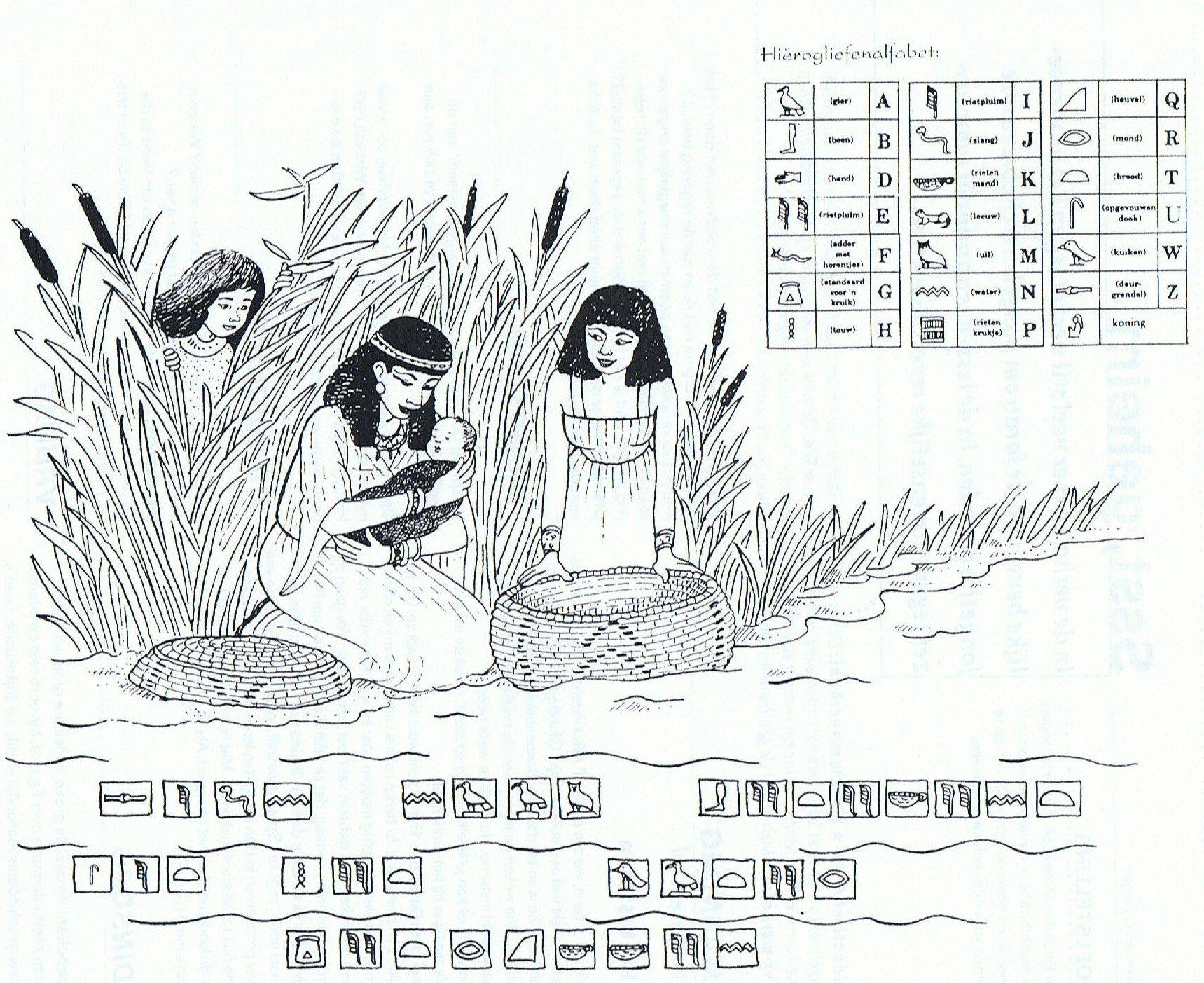 Geheimschrift Mozes Bijbel Pinterest Bible Crafts