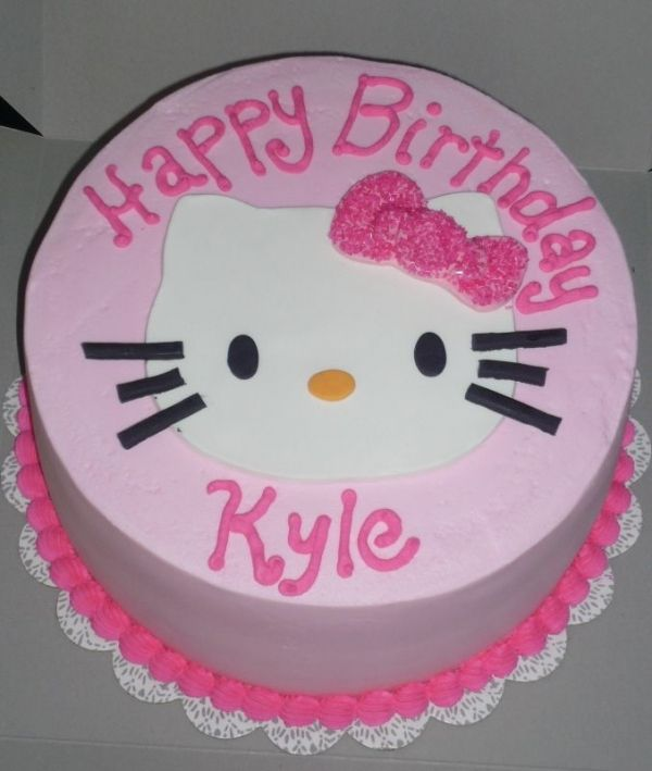 simple Hello kitty cake Desserts Pinterest Hello kitty cake