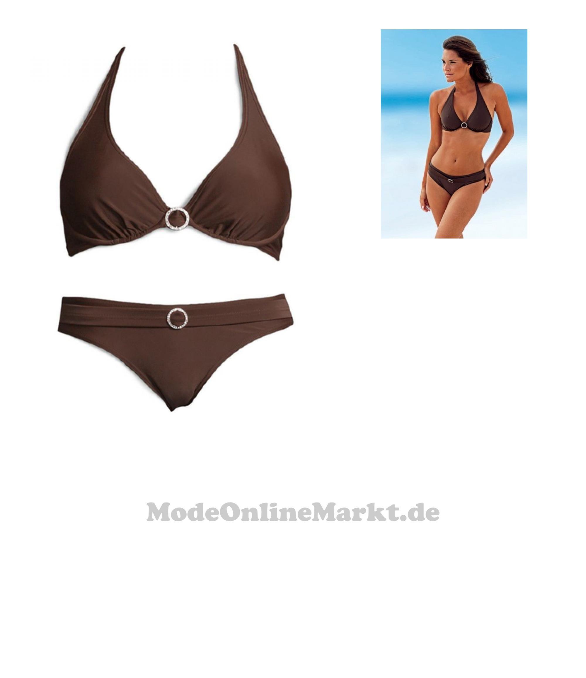 4893865195525 | #LASCANA #Damen #Triangel-Bügel-Bikini #braun