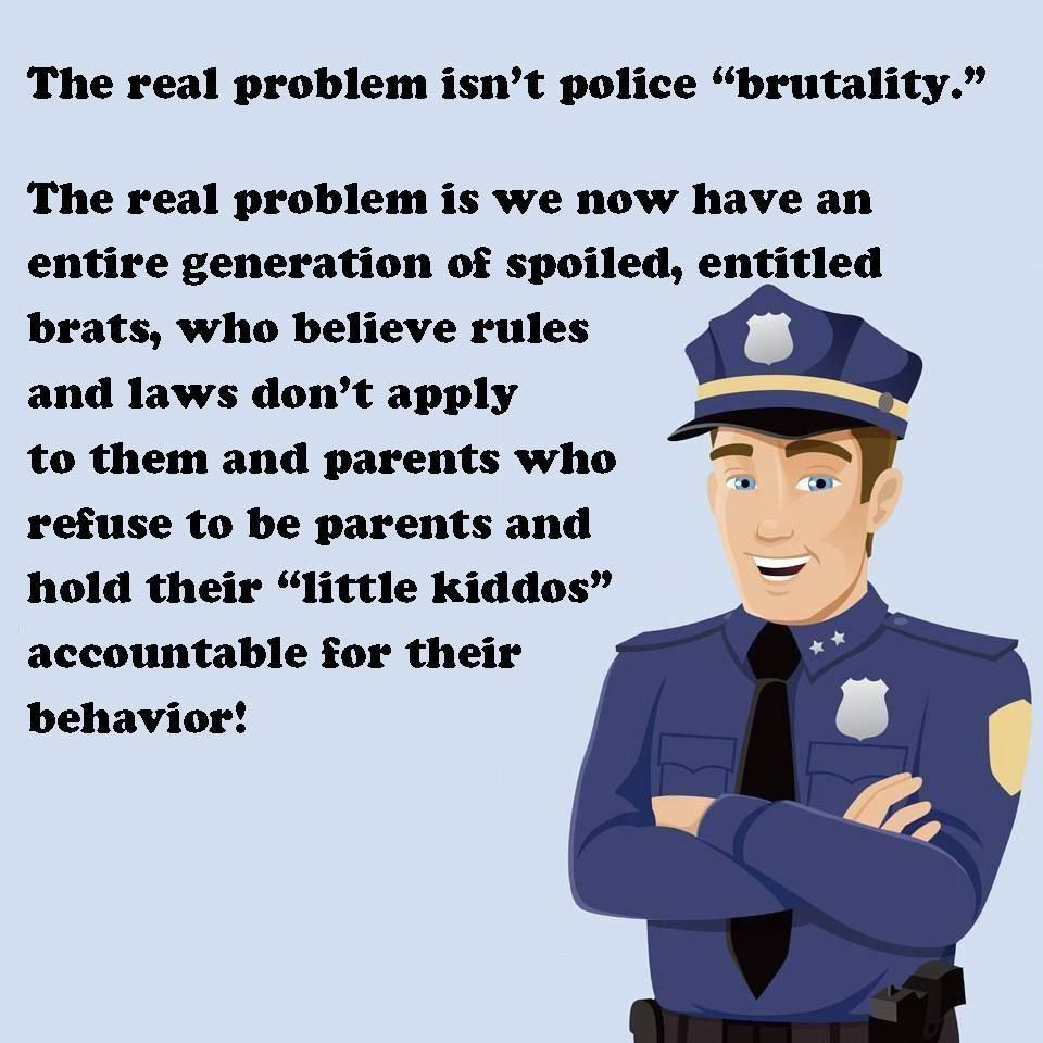 the real problem isn t police brutality the real problem is we law