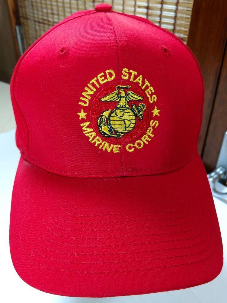 Mens US United States Marine Corps Snapback Baseball Hat Cap