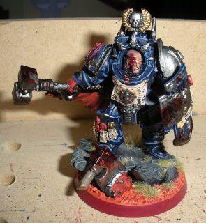 Crimson Fist Deathwatch terminator veteran sergeant Jurgon