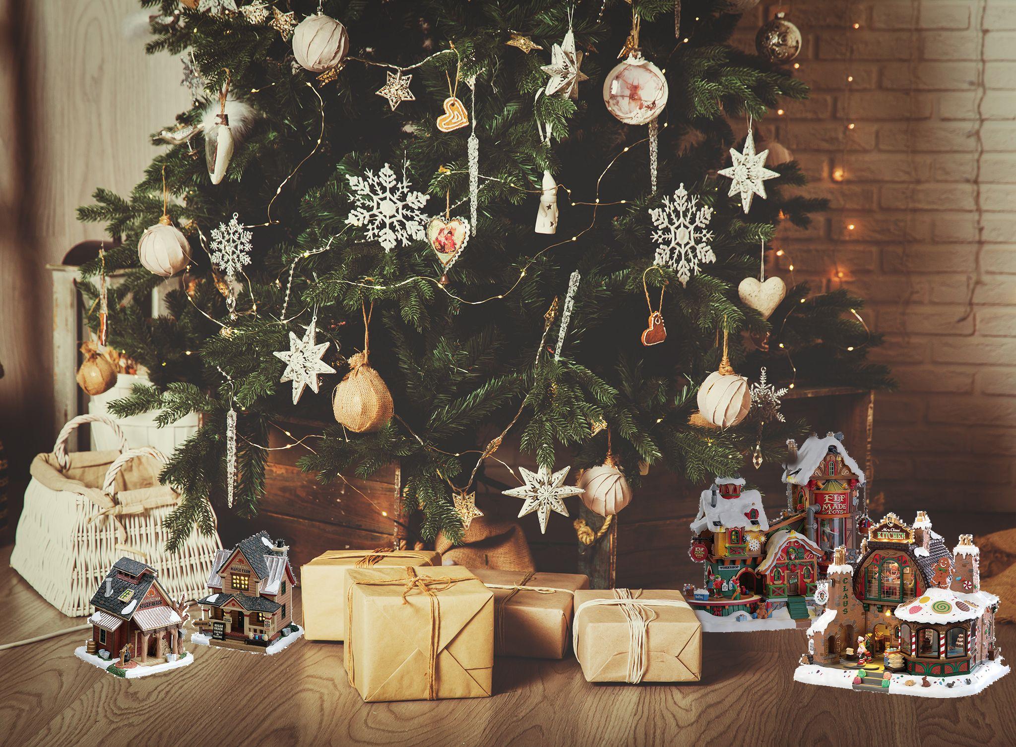 Petites Maisons Pour Mettre Sous Le Sapin Decoration Noel Decoration Fete Decoration Noel Exterieur