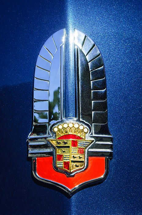 1941 Cadillac Emblem - Car photographs by Jill Reger..Re-pin brought to you by agents of #carinsurance at #houseofinsurance in Eugene, Oregon