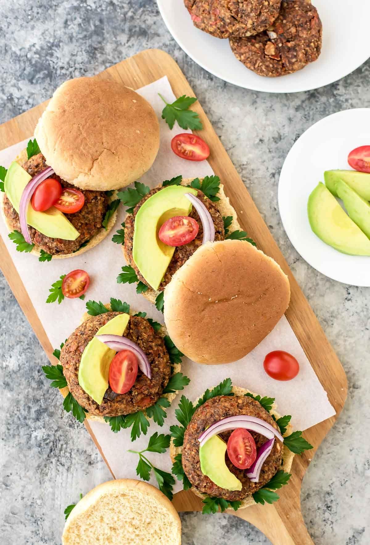 Super Food Black Bean Vegan Burgers