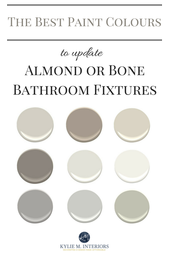The 6 Best Paint Colours For An Almond Or Bone Bathroom Beige Bathroom Bathroom Paint Colors Painting Bathroom