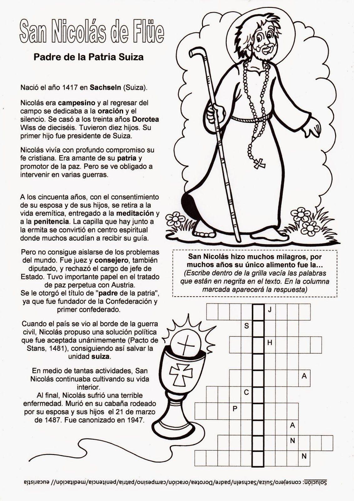 El Rincón de las Melli: Breve historia de san Nicolás de Flüe, con ...