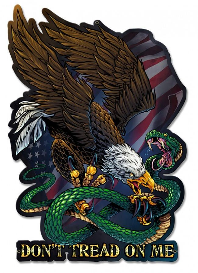 71f5d698b6113 United States Bald Eagle and Flag Don t Tread On Me Eagle Snake ...