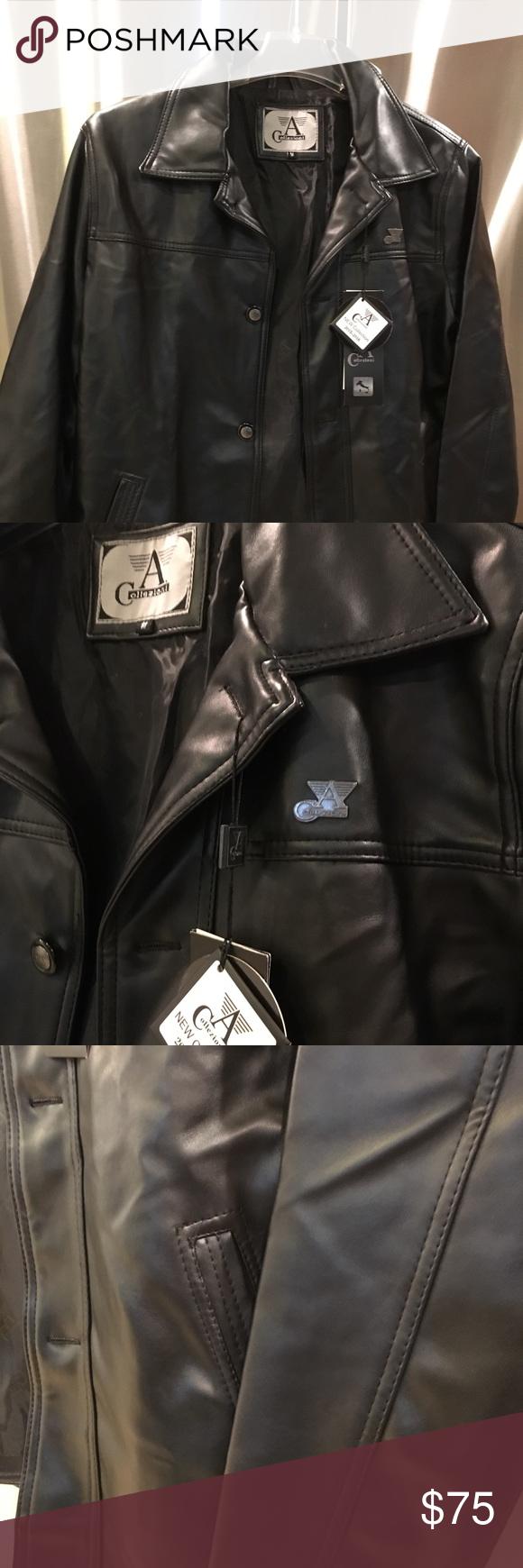 63b1d1a59 A Collezioni Faux leather jacket Brand new A Collezioni black faux ...