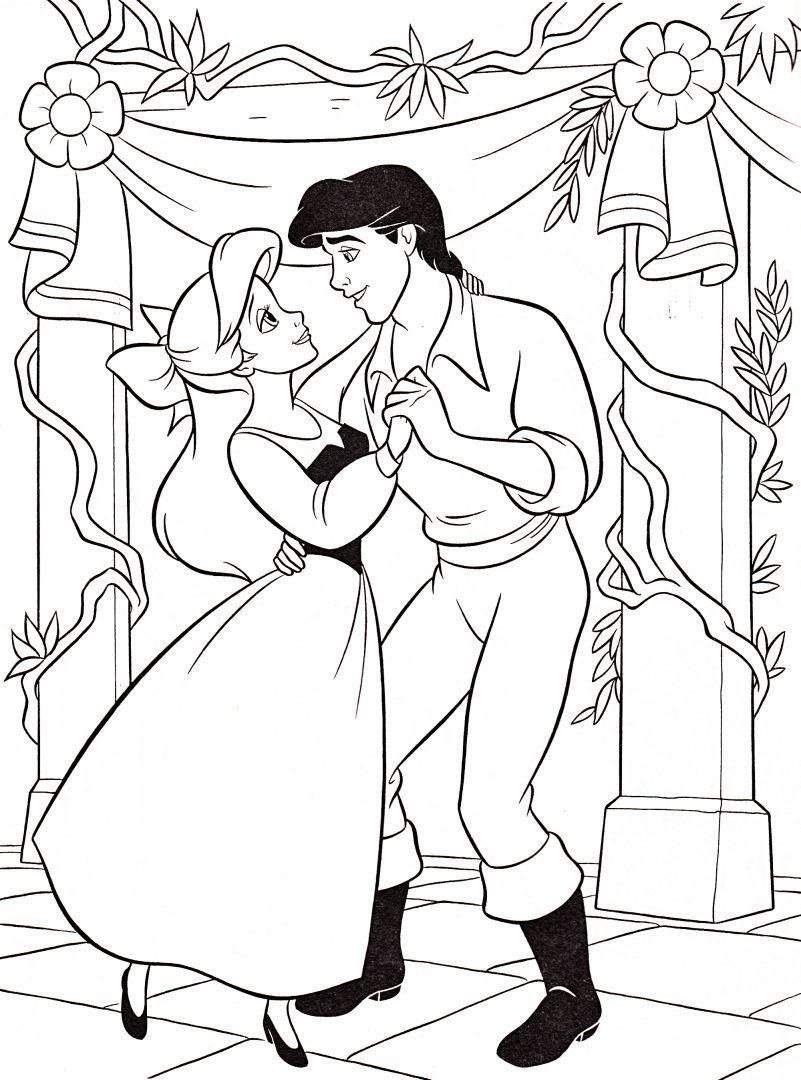 Ariel y el príncipe Eric :: Si hablamos de dibujos animados, la factoría Disney no puede faltar entre ellos. Y por ello hemos querido rendirle un homenaje seleccionando dibujos infantiles Disney con algunos de sus personajes más carismáticos.