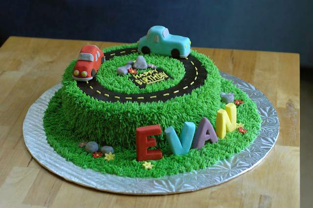 Car Cake Via Thecreativepaige Its Two Round 8 Cakes Pushed Together