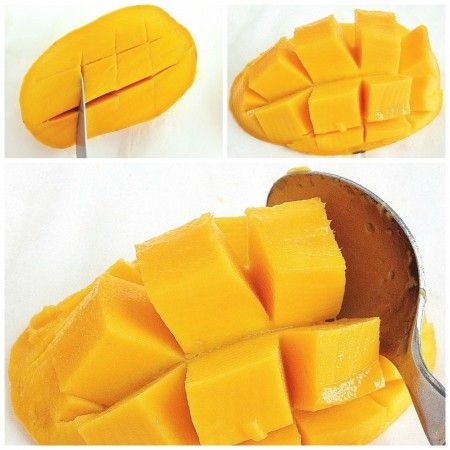 how to cut up mango fruit