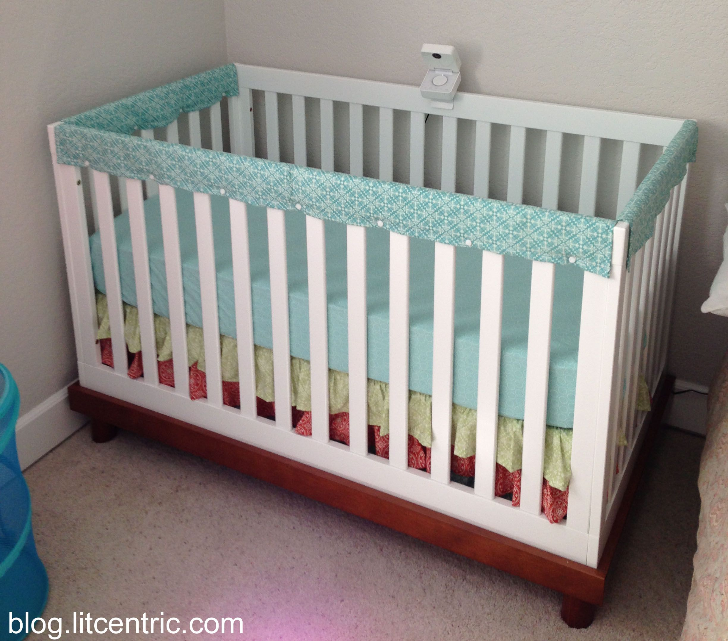 How To Make A Crib Rail Cover With Snap Fasteners