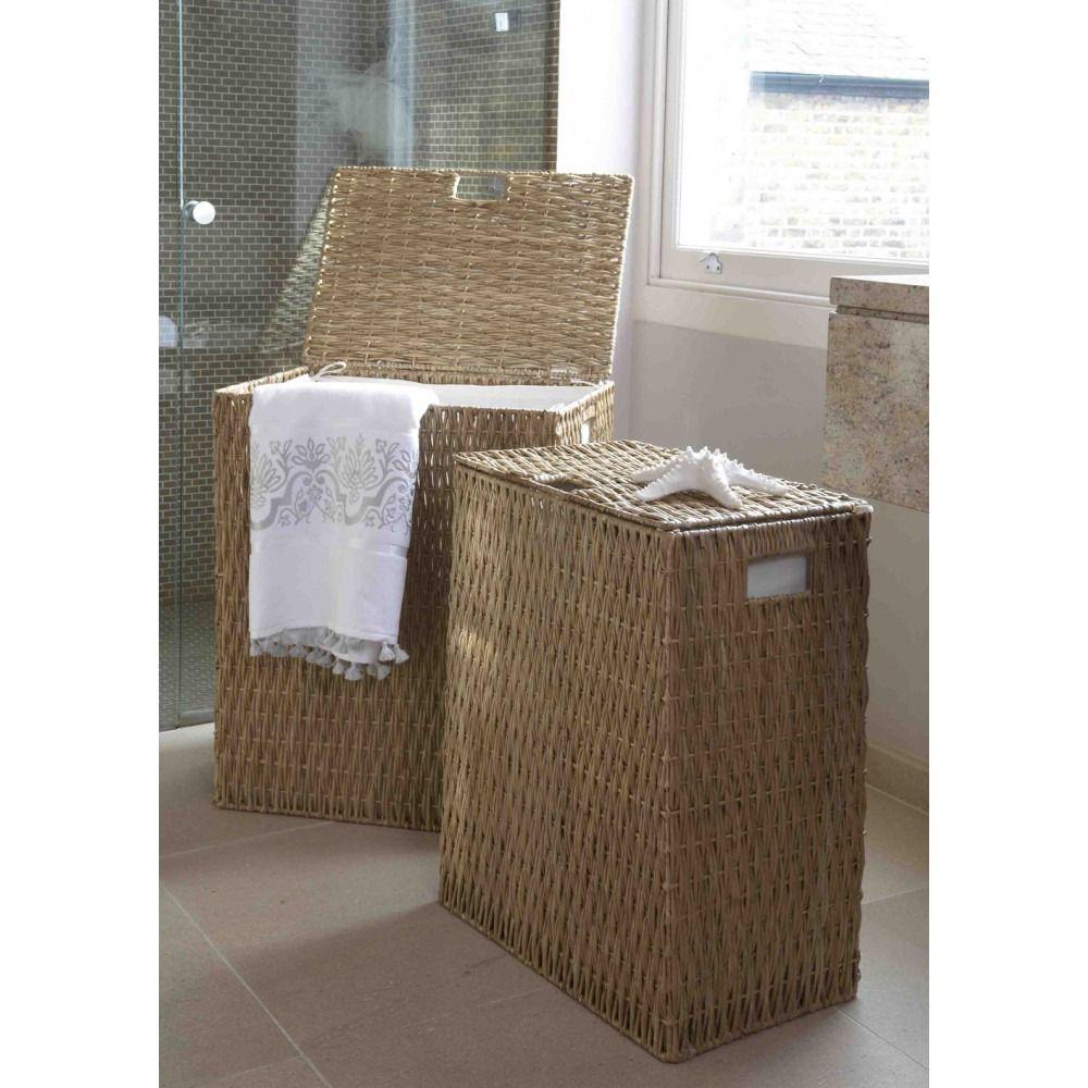 Radley Gebang Wicker Linen Laundry Basket Natural Laundry Room