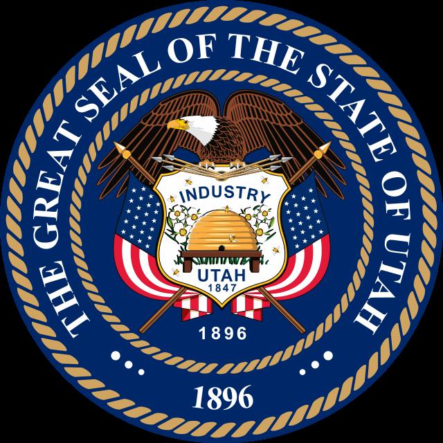The Great Seal Of The State Of Utah Utah States State Symbols
