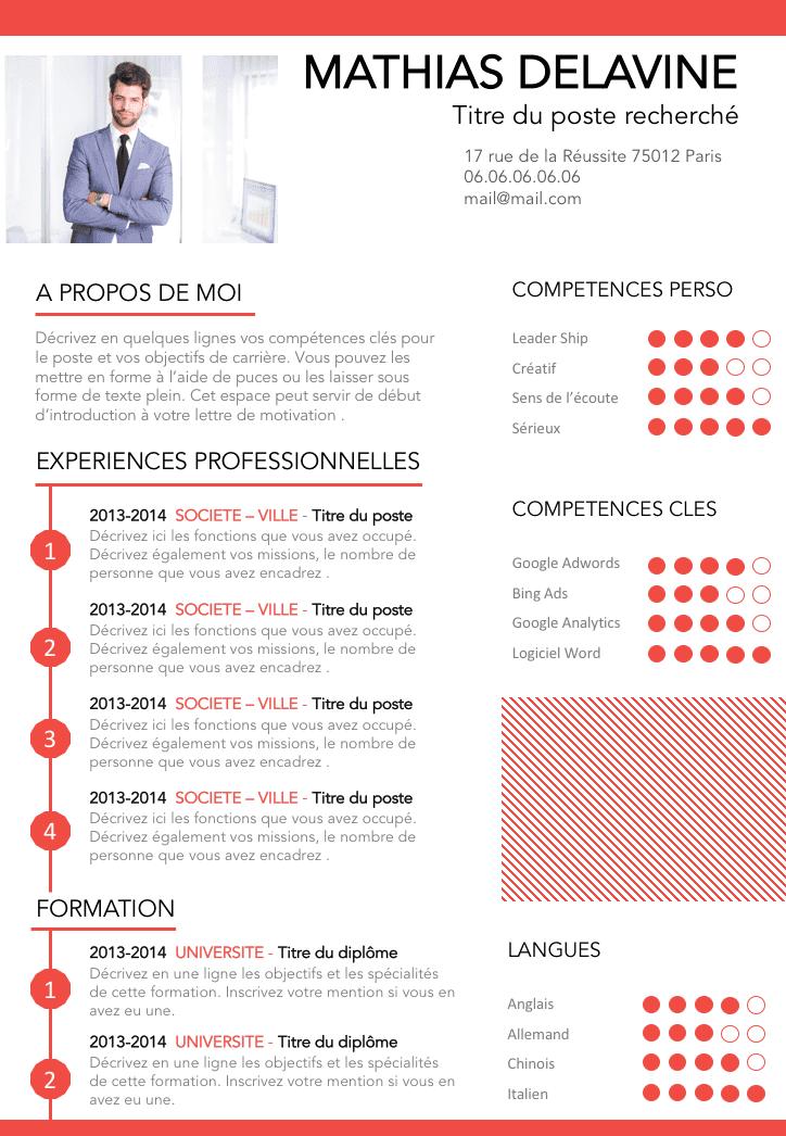 cv creatif informatique