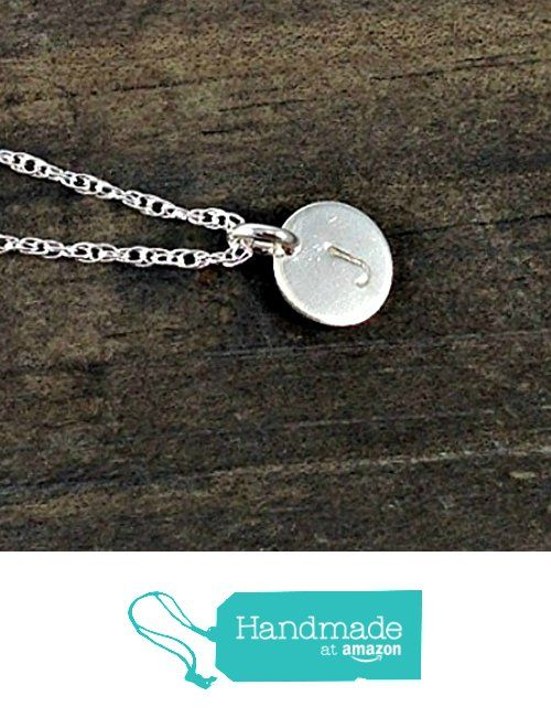 Custom Hand Stamped Sterling Silver Initial Necklace from DLK Designs http://www.amazon.com/dp/B016GSJYAG/ref=hnd_sw_r_pi_dp_eOxjwb0T84ZXK #handmadeatamazon