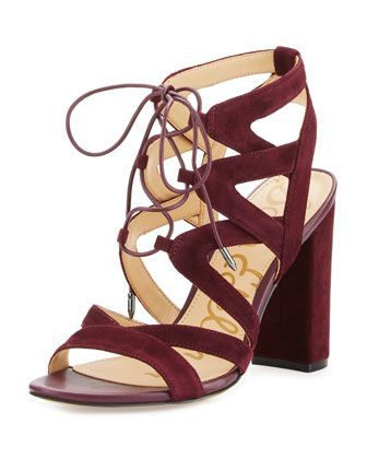 89d6bafc97bf Spice up any game day outfit with these burgundy strappy heels ...