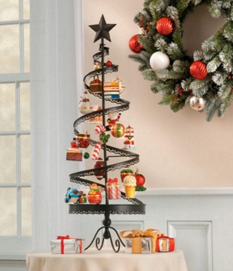 metal spiral christmas ornament