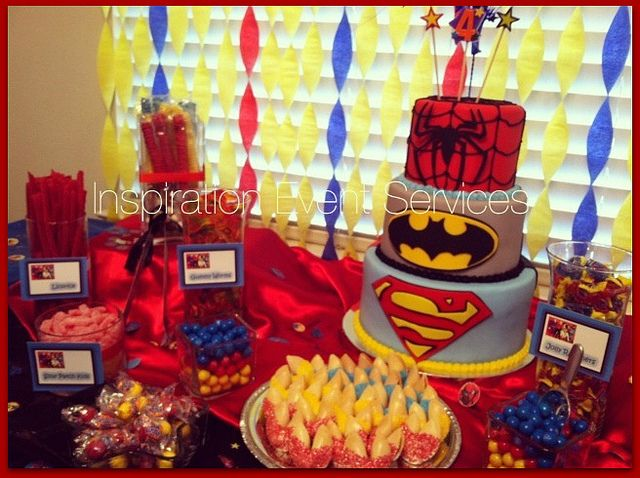 A Superhero Birthday Party Mama Harris Kitchen Superhero