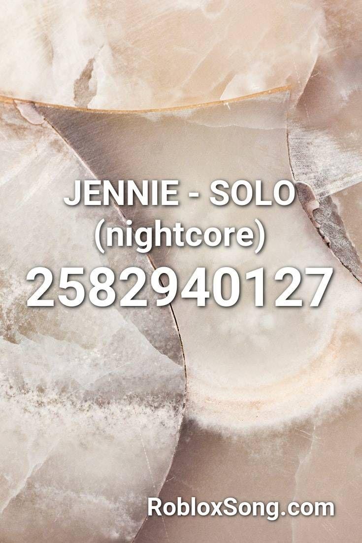 Jennie Solo Nightcore Roblox Id Roblox Music Codes In 2020 Nightcore Roblox Evil Anime