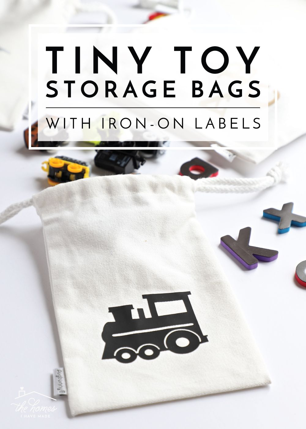 Tiny Toy Storage Bags with Iron-On Labels | Must Try DIY