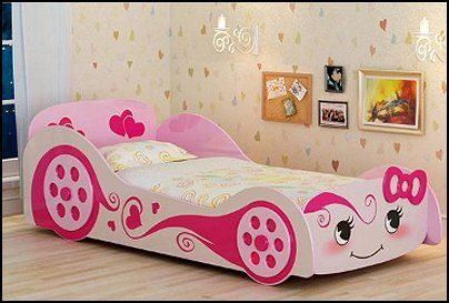 Racing Is For Girls Too Pink Race Car Bed Kids Bedroom