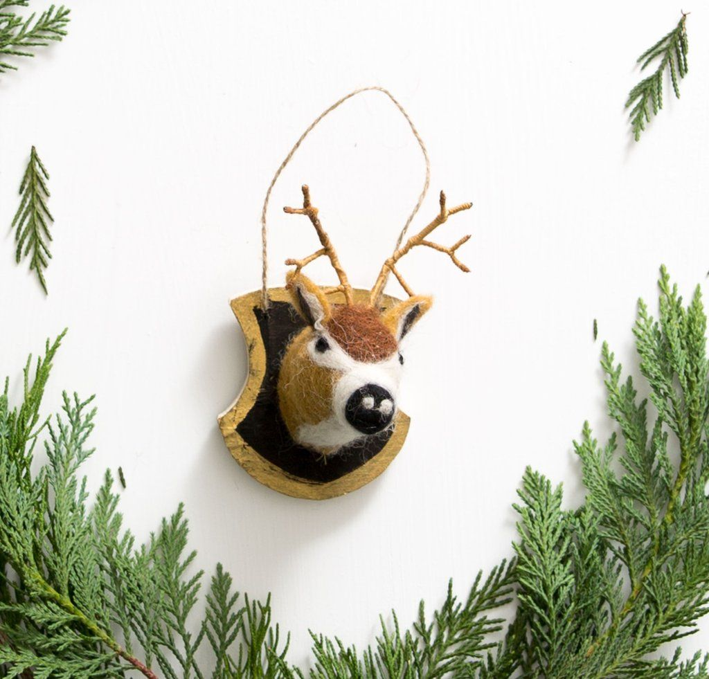 Felt Woodland Plaque Ornament