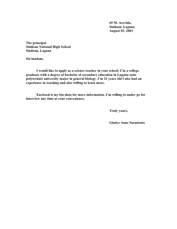 effective admission letters writing the university toronto free - sample teacher cover letter