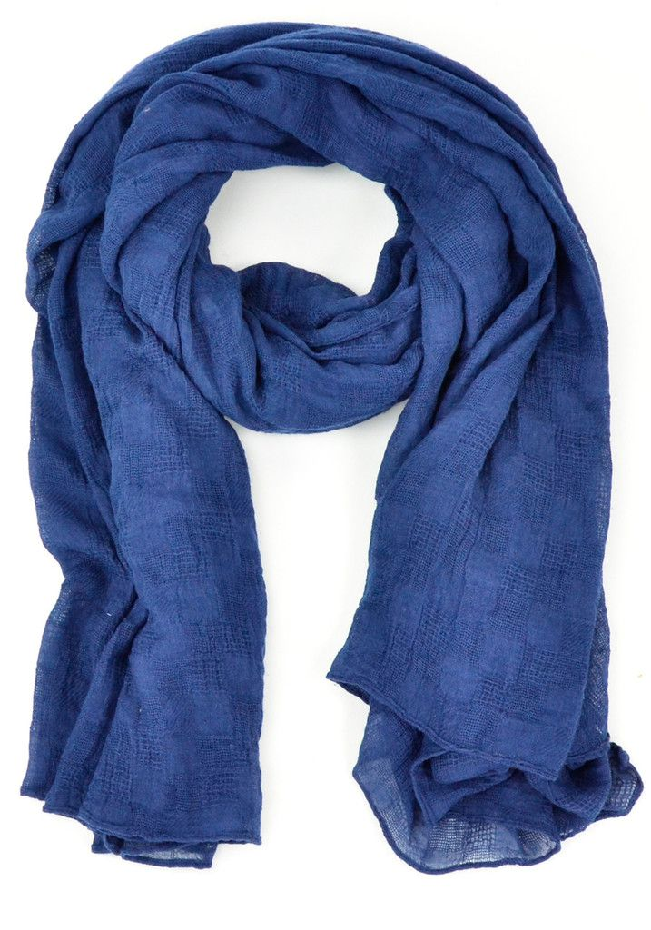 Cecil Scarf - Midnight Blue @gumtreela.com