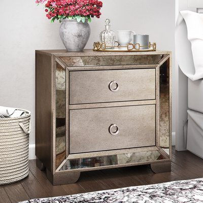 Best Willa Arlo Interiors Dowson 2 Drawer Nightstand Products 640 x 480