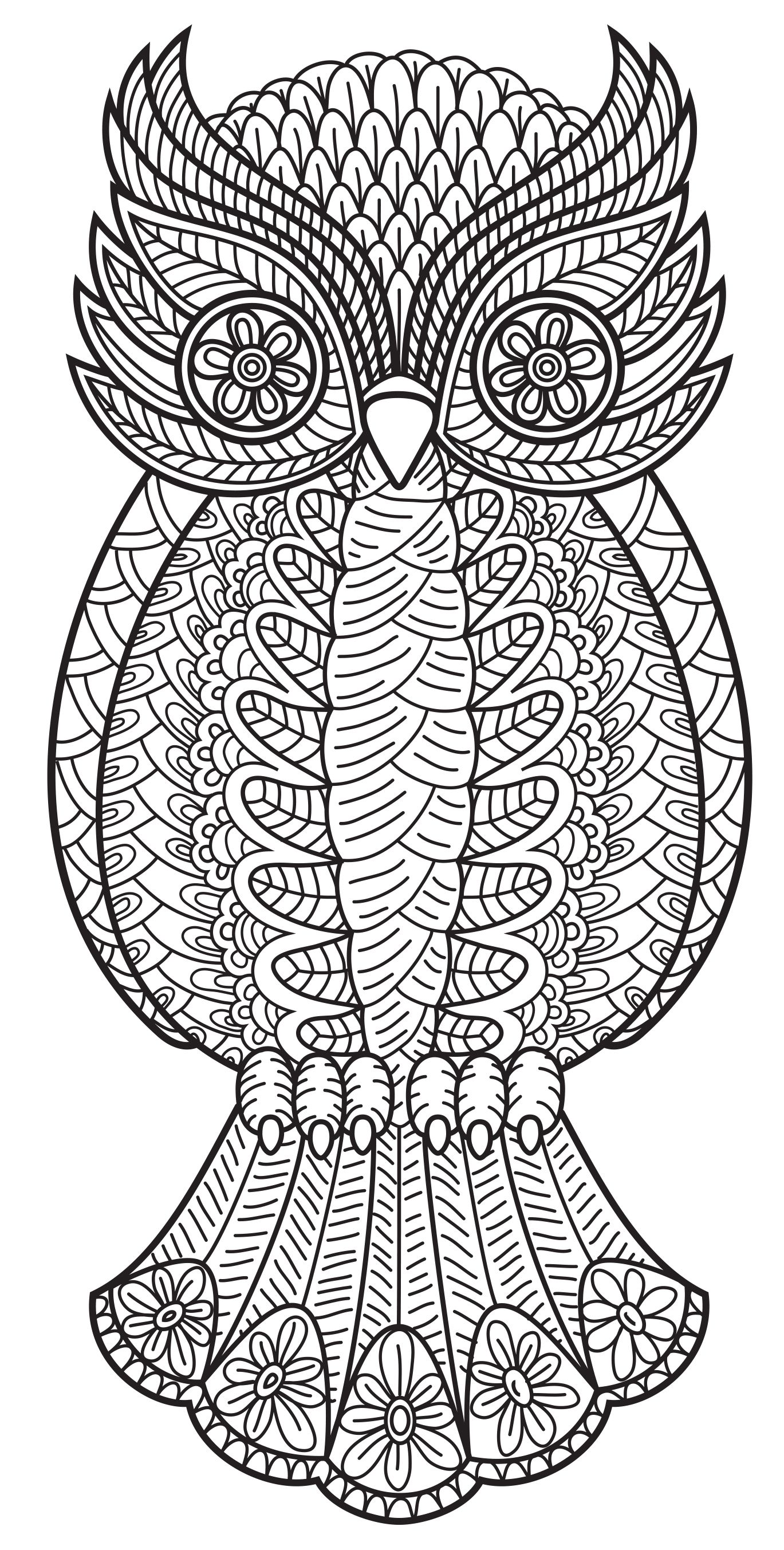 An owl from Patterns Coloring Book Vol 3 Coloring Pages Owls