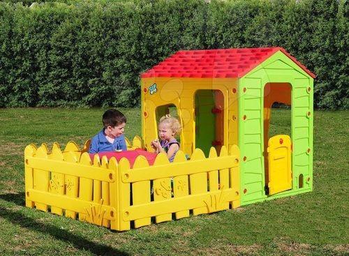 בית ילדים עם גדר גדולה Starplay - Starplay - בתי ילדים עולם הילדים - Maisonnette En Bois Avec Bac A Sable