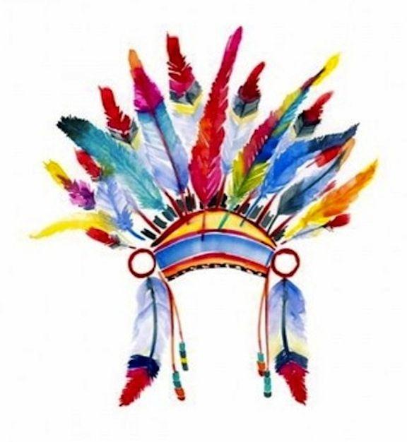 Vector Hand Drawn Native American Indian Headdress Vector Color Illustration Of Indian Tr Native American Tattoos Native American Headdress Indian Headdress