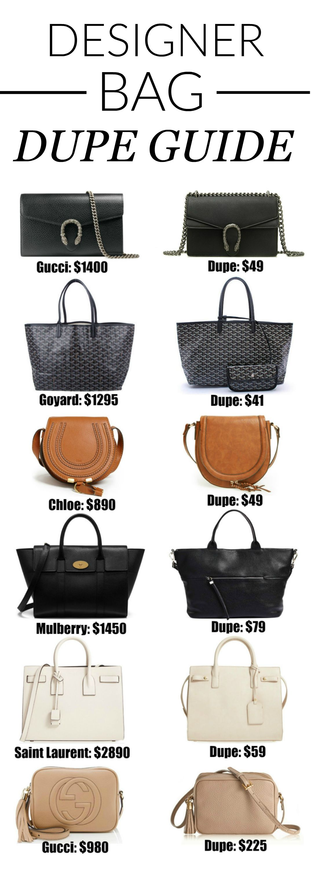 71374a931 The Ultimate Designer Bag Dupes Guide | InfluenceHer Collective ...