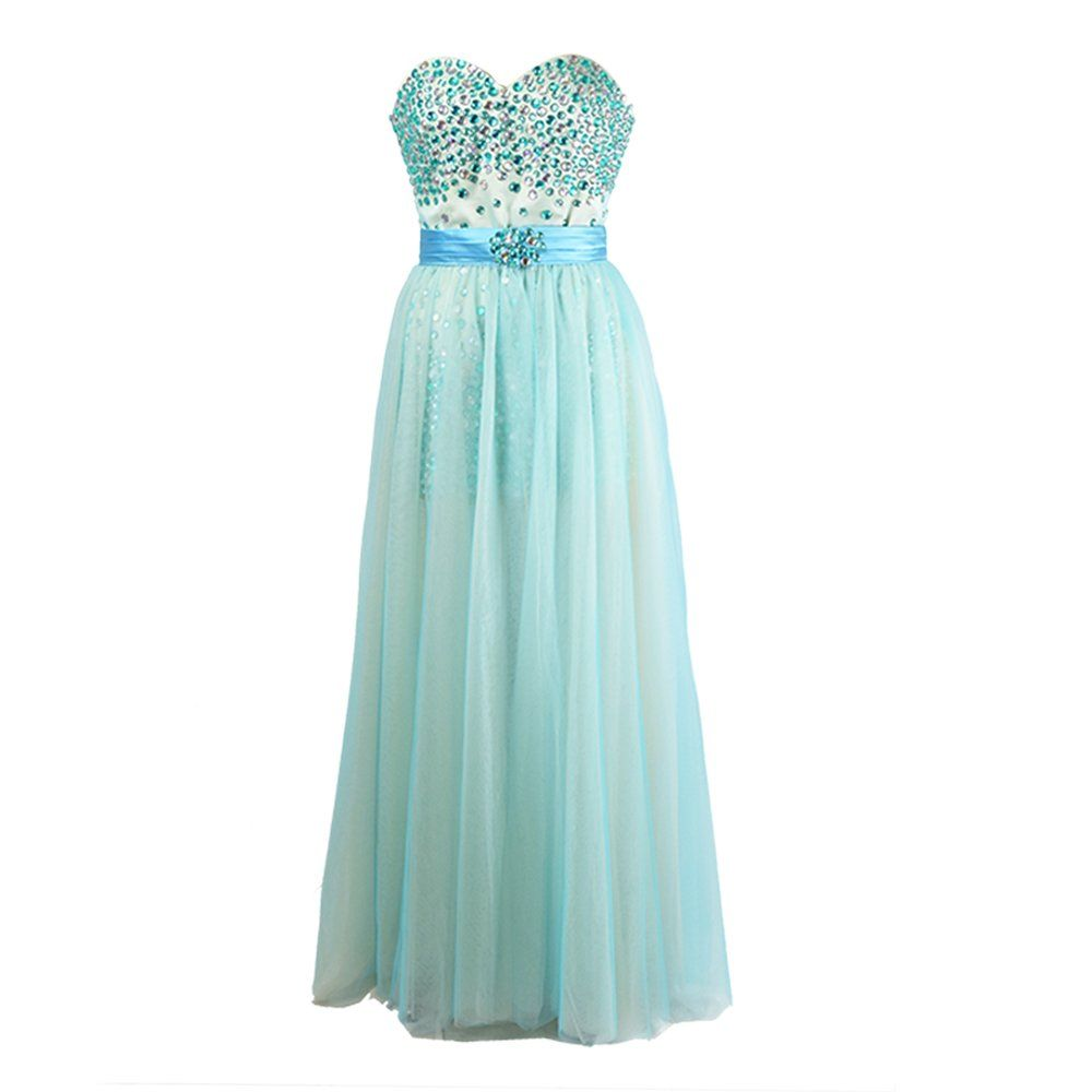 Mcneal Beaded Long Prom Dresses Backless Bridesmaid Dress Sweetheart ...