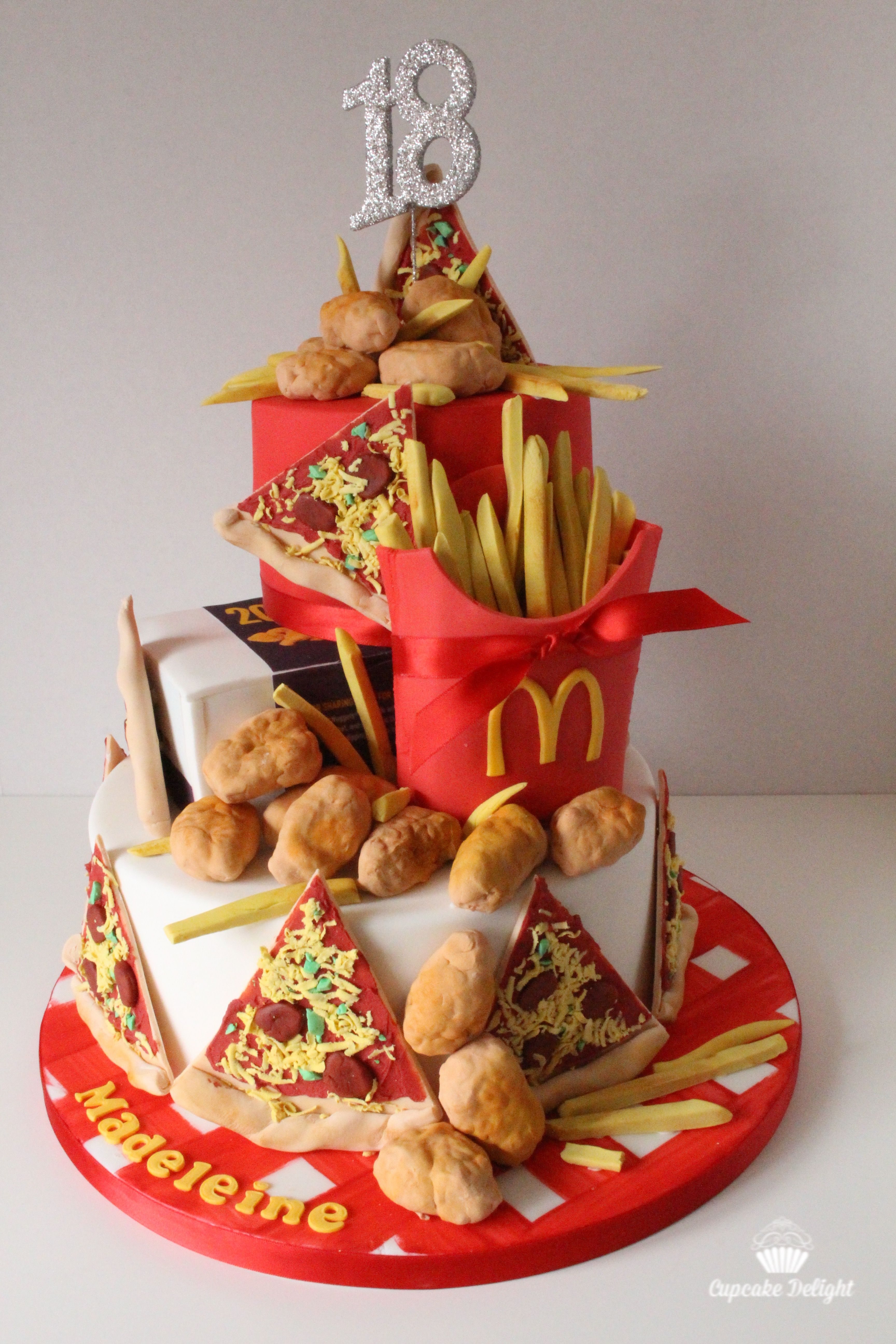 Pizza Chicken Nuggets And Fries Birthday Cake Mi
