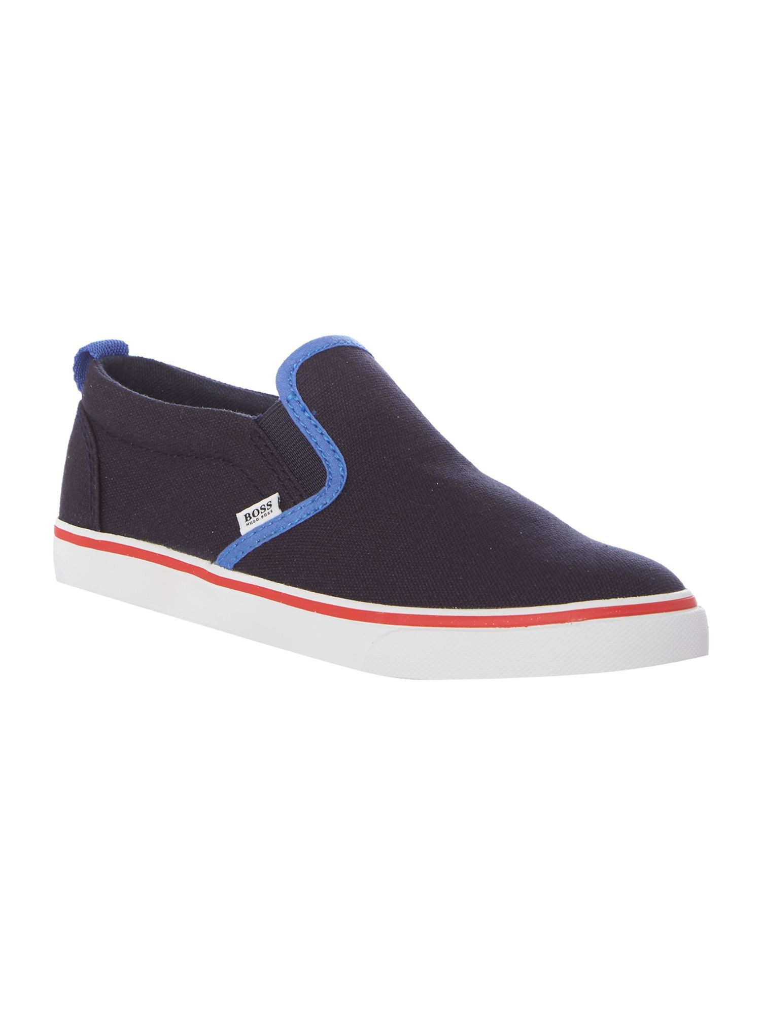 Hugo Boss Boys Canvas Trainers, Navy | Hugo boss, Trainers, Navy