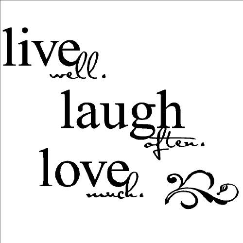 Large Live Well Laugh Often Love Much H X W Vinyl Lettering Wall Sayings Quote Decal Sticker Home Decor