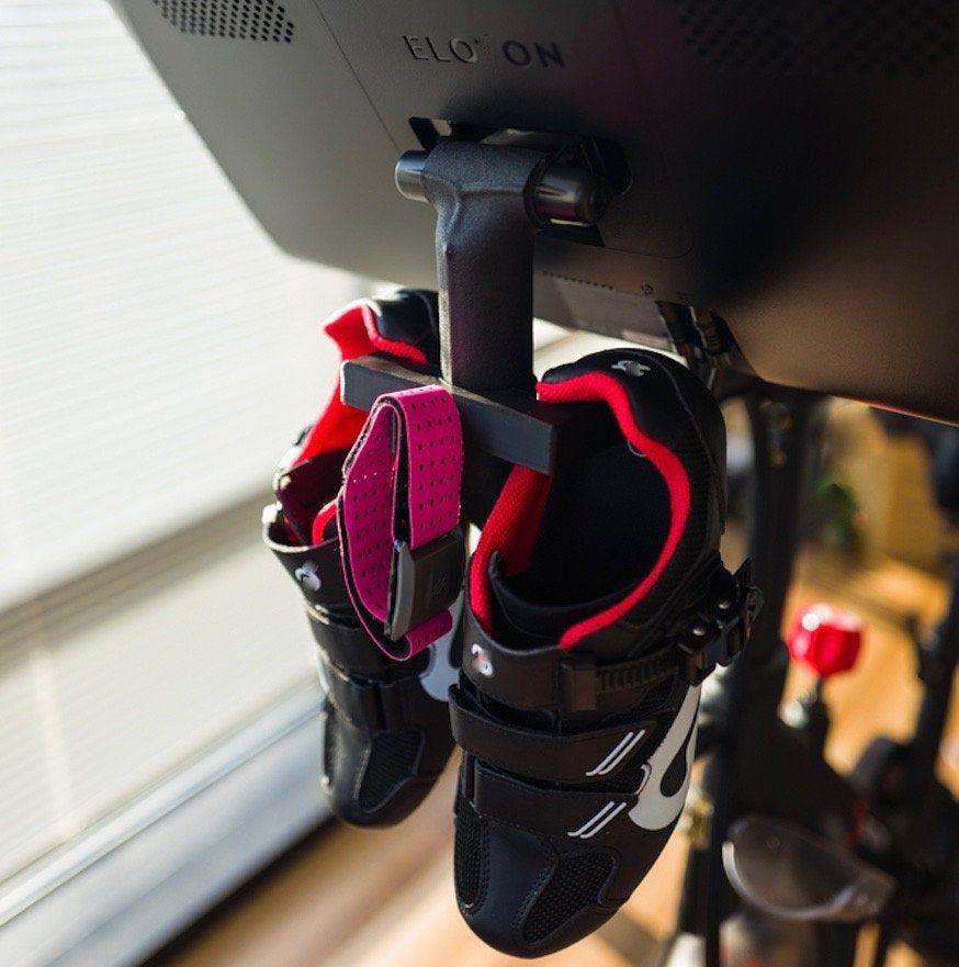 Peloton shoe hook mount spin bike shoe hanger etsy in