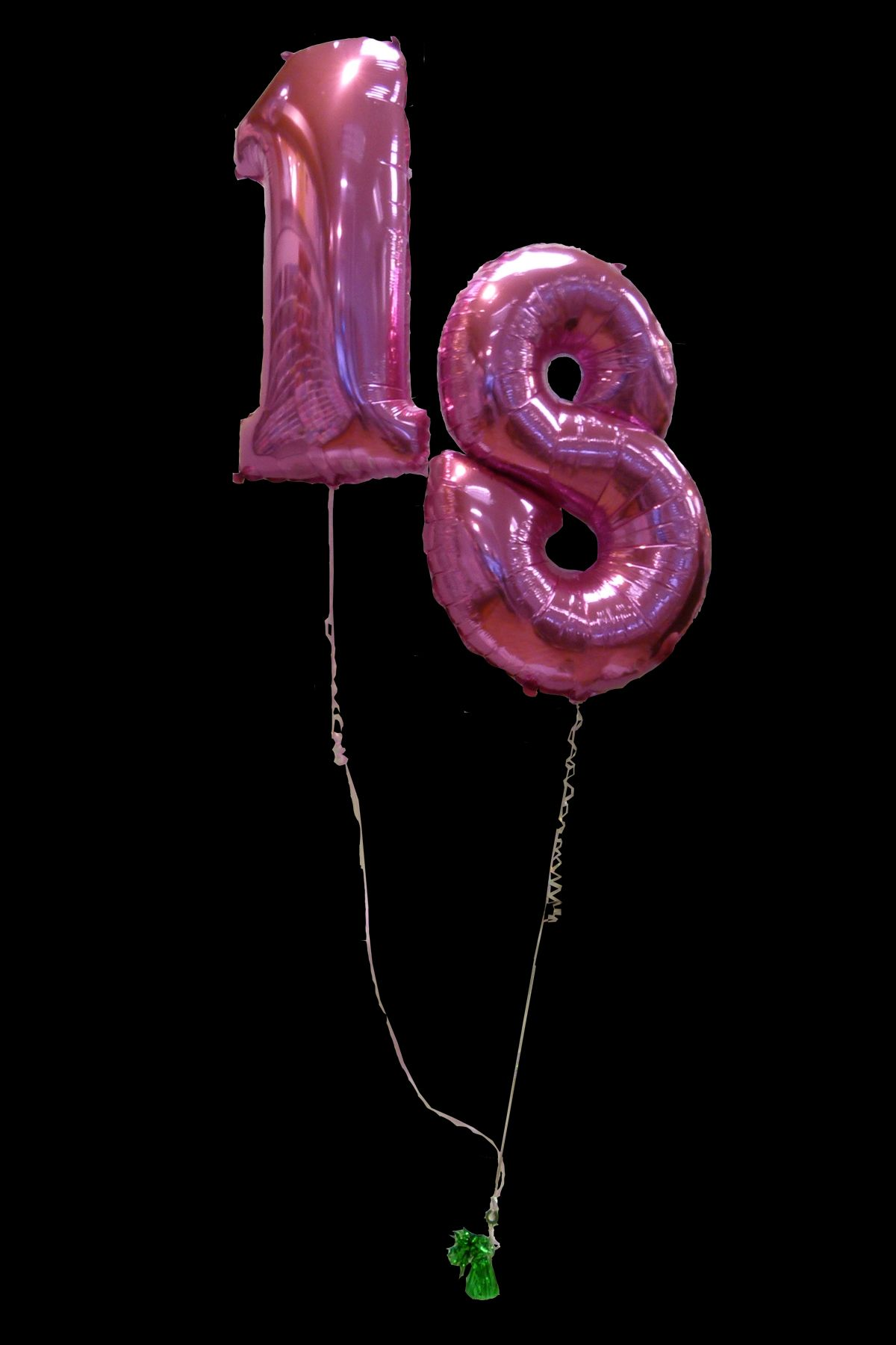 Pink number 18 balloons perfect for decorating at an 18th for 18th birthday decoration