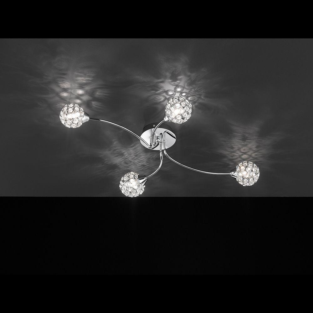 Halogen Deckenleuchte mit vier Lichtquellen und einer Länge