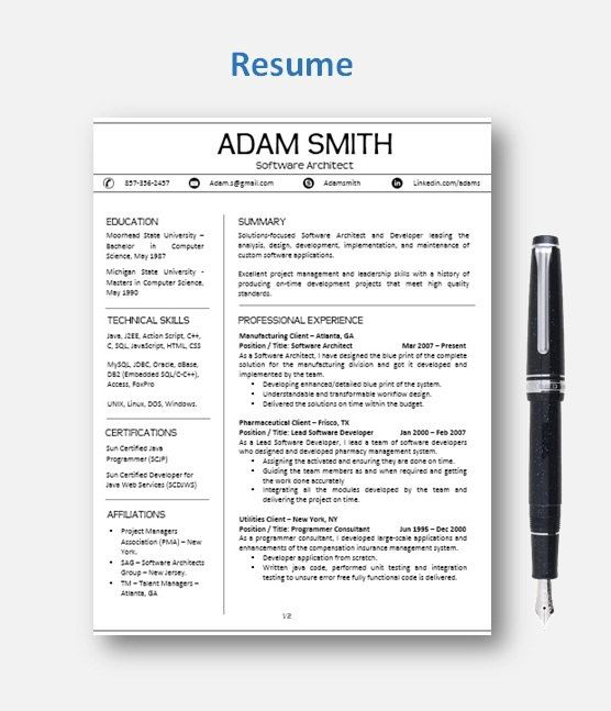 Resume Template   CV Template with add-on for extra pages, Cover and Reference Letters in Word format   Instant Digital Download   Mac or Pc by ResumeEnhancer on Etsy