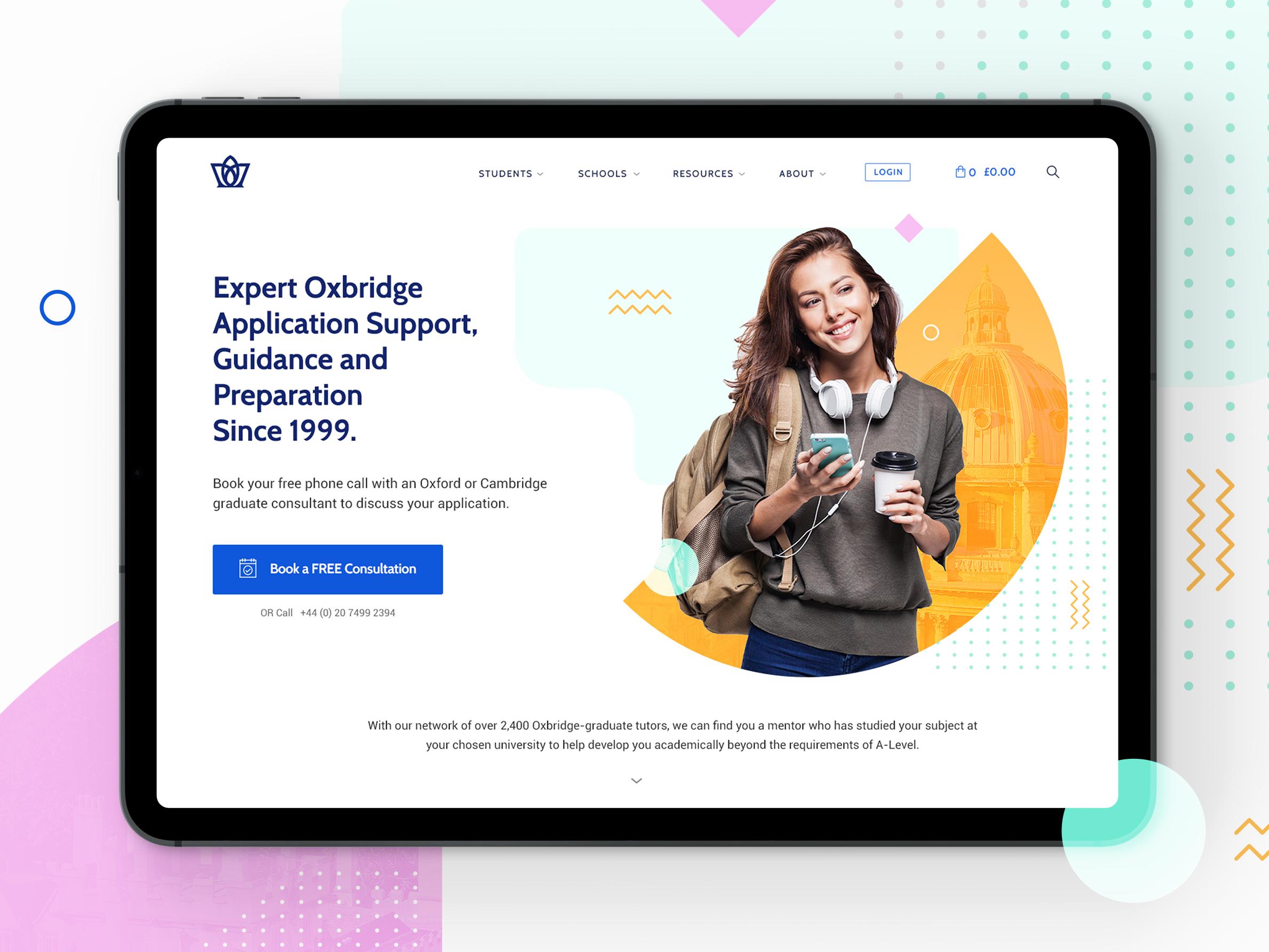 Tutoring Website In 2020 Portfolio Website Design Portfolio Web Design Corporate Web Design