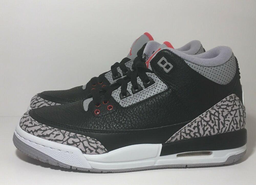 bdfc520614296 SZ.6Y Nike Air Jordan 3 Retro OG BG 854261 001
