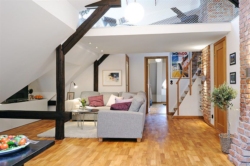 Two Level Loft Apartment In Swedish Style Best Lofts And